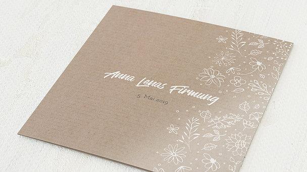 Firmung Karten - Blumenstil