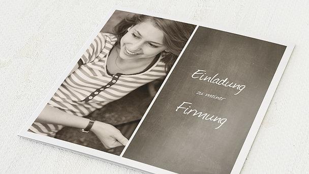 Firmung Karten - Getäfelt jung