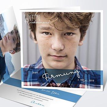 Firmung Karten - Portraitfoto