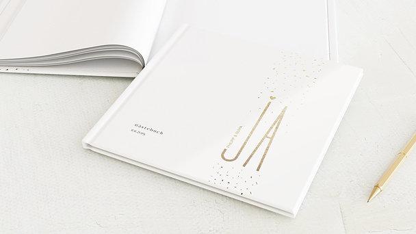 Gästebuch Hochzeit - Goldsturm