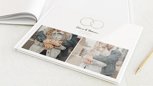 Gästebuch Hochzeit - Zarte Ringe