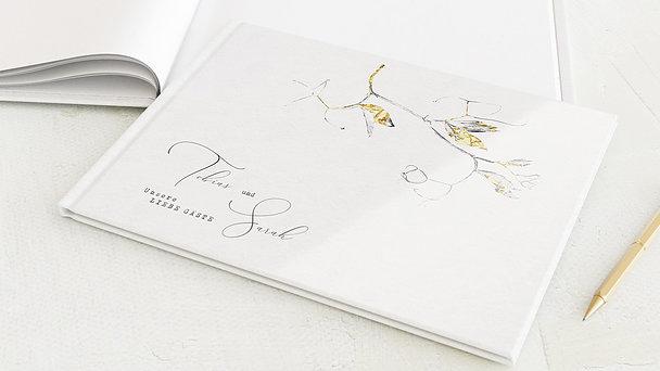 Gästebuch Hochzeit - Edles Zweiglein