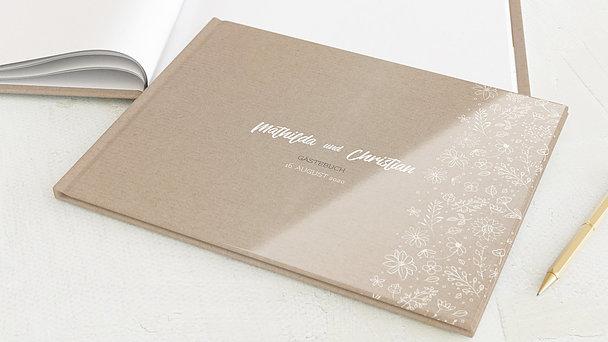 Gästebuch Hochzeit - Blumenstil