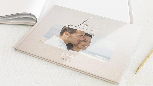 Gästebuch Hochzeit - Weicher Glanz
