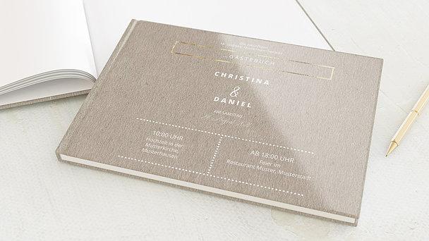 Gästebuch Hochzeit - Edelsamt