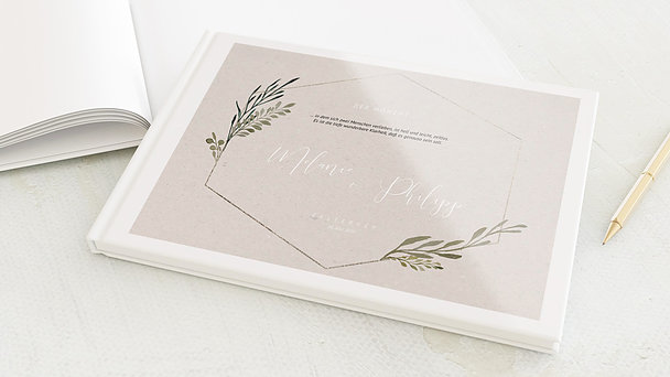 Gästebuch Hochzeit - Elegant gerankt