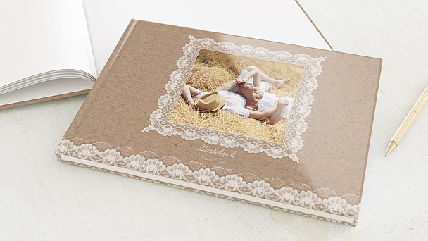 Gästebuch Hochzeit - Hochzeitsspitze