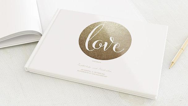 Gästebuch Hochzeit - Goldpanel