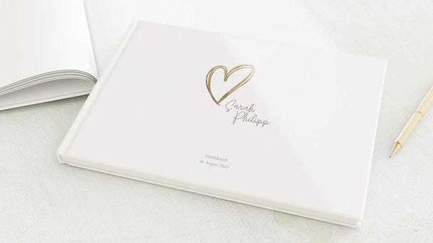 Gästebuch Hochzeit - Herz über Kopf