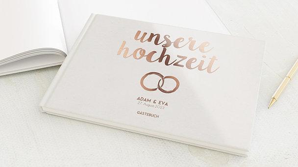 Gästebuch Hochzeit - Edles Ja