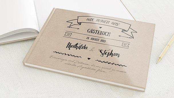 Gästebuch Hochzeit - Kraftpapier