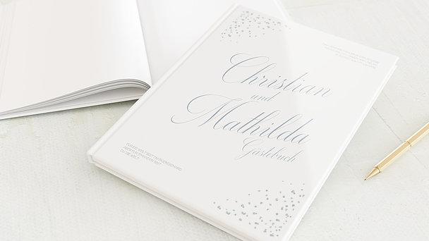 Gästebuch Hochzeit - Kristallgestöber