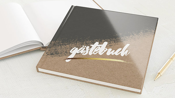Gästebuch Hochzeit - Kontraste