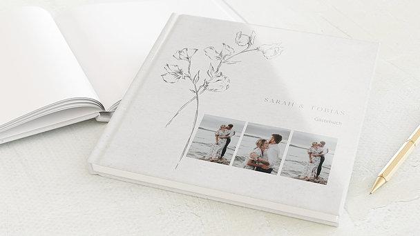 Gästebuch Hochzeit - Zartes Bouquet