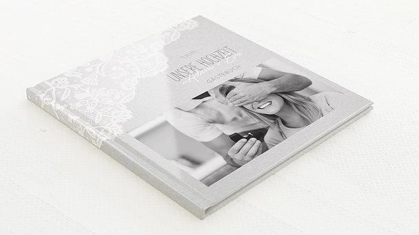 Gästebuch Hochzeit - Pastellspitze