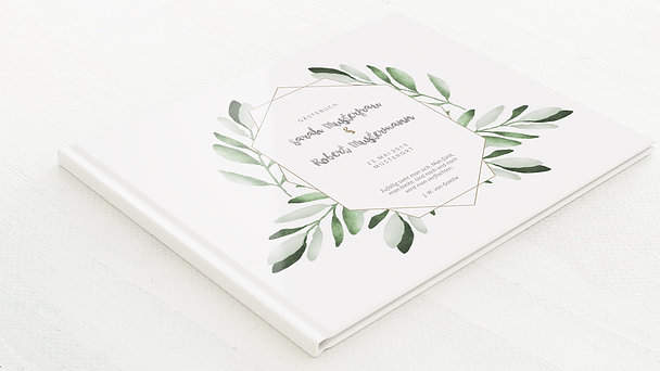 Gästebuch Hochzeit - Edles Grün