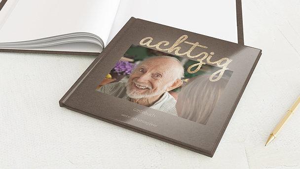 Gästebuch Geburtstag - Goldener Tag 80