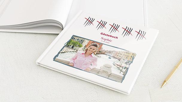 Gästebuch Geburtstag - Strichliste 50