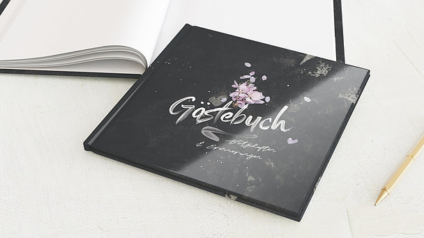 Gästebuch Geburtstag - Grunge blossom