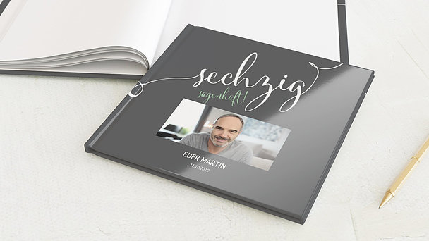 Gästebuch Geburtstag - Sagenhafte Sechzig
