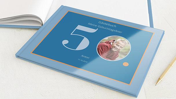 Gästebuch Geburtstag - Geometrisch