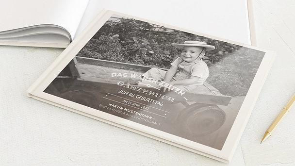 Gästebuch Geburtstag - Alte Zeiten 60