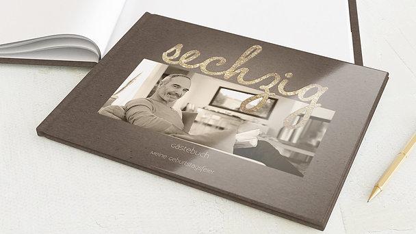 Gästebuch Geburtstag - Goldener Tag 60