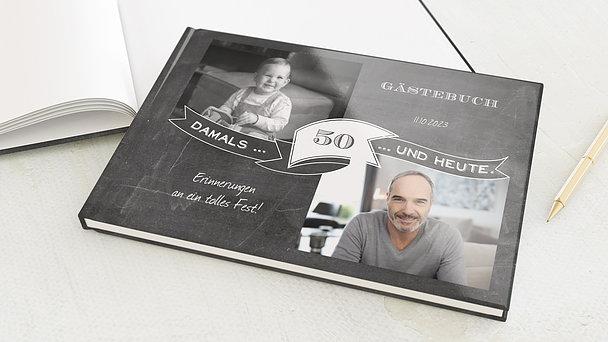 Gästebuch Geburtstag - Jahrestafel 50
