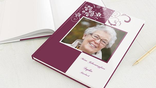 Gästebuch Geburtstag - Blütenkarte
