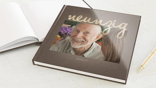 Gästebuch Geburtstag - Goldener Tag 90