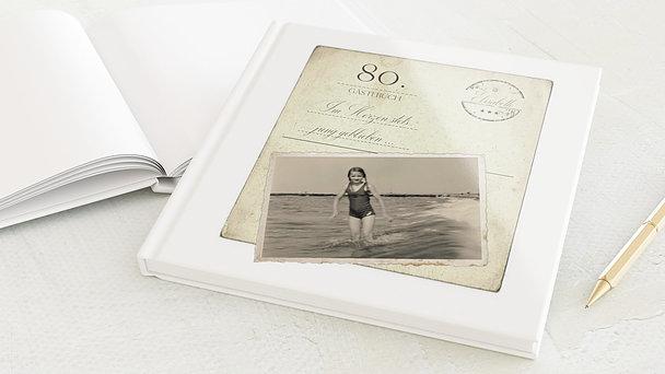 Gästebuch Geburtstag - Jung geblieben 80