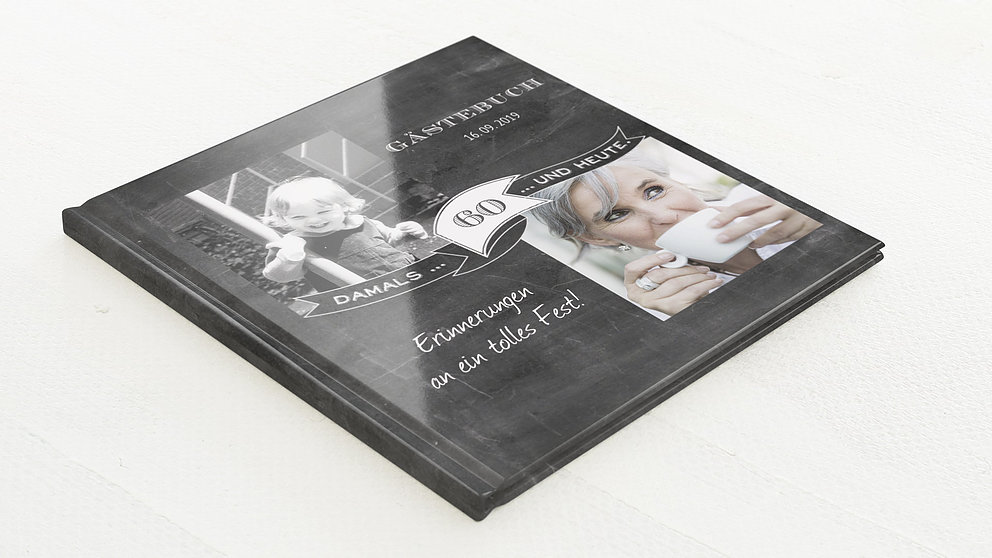 Gästebuch Geburtstag Jahrestafel 60 Detail