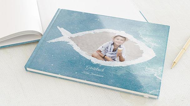 Gästebuch Kommunion - Fisch im Wasser