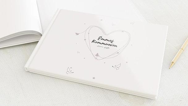 Gästebuch Kommunion - Herz & Sterne