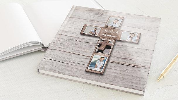 Gästebuch Kommunion - Kreuz mit Fotos