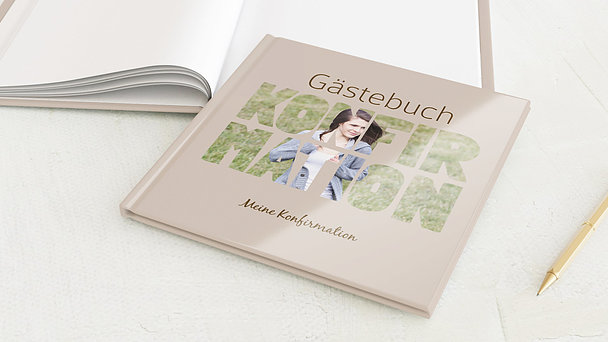 Gästebuch Konfirmation - Fototext