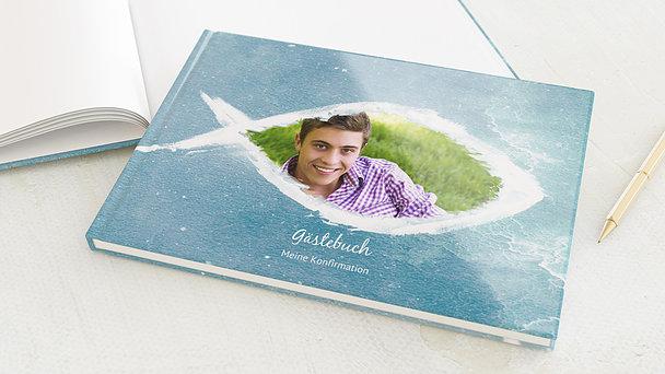 Gästebuch Konfirmation - Fisch im Wasser