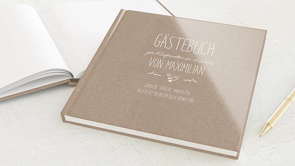 Gästebuch Konfirmation - Rustique