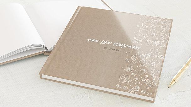 Gästebuch Konfirmation - Blumenstil
