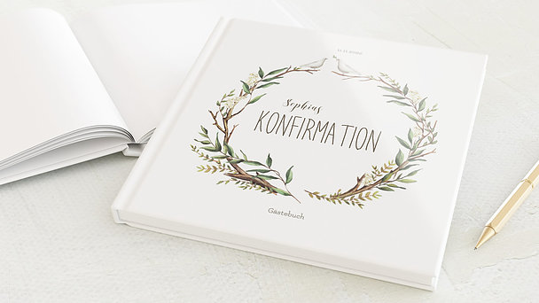 Gästebuch Konfirmation - Konfirmationkranz