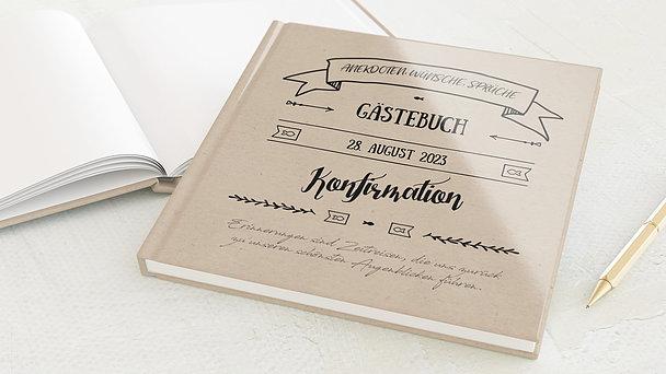 Gästebuch Konfirmation - Kraftliner