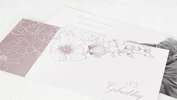 Geburtstagseinladungen - Harmonie der Blüten 85