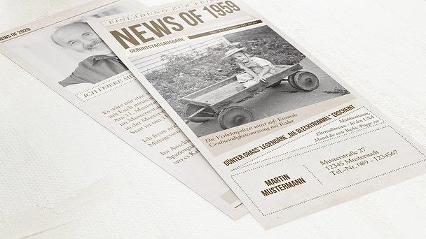 Geburtstagseinladungen - Newspaper 1959