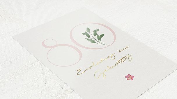 Geburtstagseinladungen - Blütenzart 80