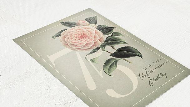 Geburtstagseinladungen - Kamelie 75
