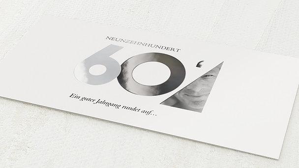 Geburtstagseinladungen - Aufgerundet 60