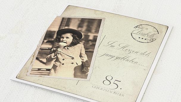 Geburtstagseinladungen - Jung geblieben 85