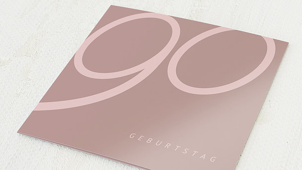 Geburtstagseinladungen - Famose 90