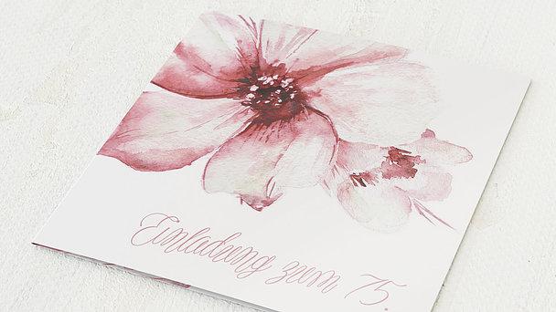 Geburtstagseinladungen - Blütenpracht 75