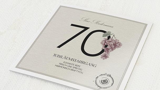 Geburtstagseinladungen - Elegante Reife 70